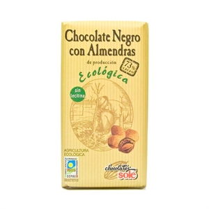 Picture of Chocolate negro con almendras 73% eco 150gr