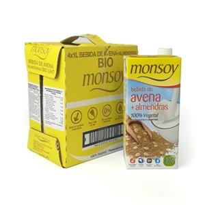 Picture of Caja de bebida de avena y almendra Monsoy eco 4 ud