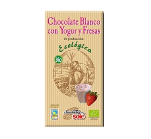 Picture of Chocolate Blanco con Yogur y Fresas eco 100gr