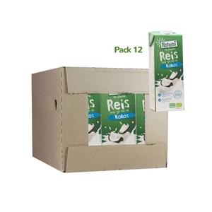 Picture of Caja de bebida arroz+ coco Natumi eco 12 ud