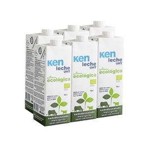 Picture of Caja de leche semidesnatada de vaca Ken eco 6 ud