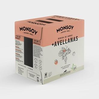 Imagen de Caja de bebida de arroz y avellanas Monsoy eco 6 ud