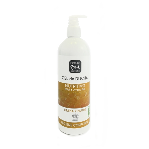 Picture of Gel de ducha nutritivo miel y avena NaturaBio 740ml