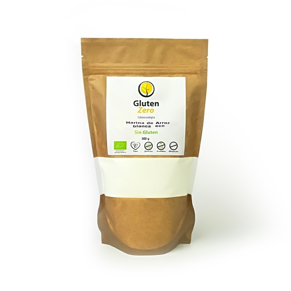 Picture of Harina de arroz blanco Gluten Zero eco sin gluten 500g