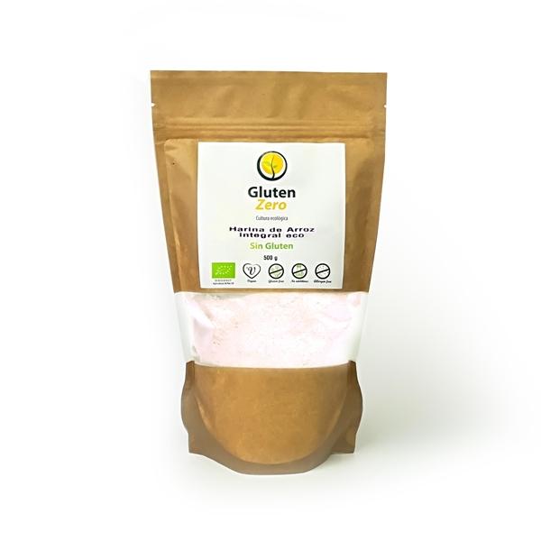 Picture of Harina de arroz integral Gluten Zero eco sin gluten 500g